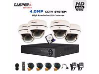 4.0MP CCTV 1080p Dome Cameras HD 4CH HDMI DVR AHD CVI TVI System with 1TB HDD