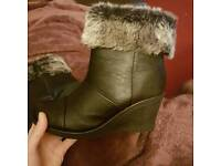 Womens wedge ankle boots