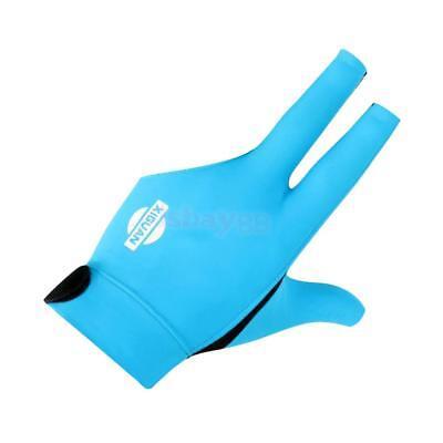 3-Finger Professional Elastic Snooker Pool Billiard Glove for Left Hand Blue
