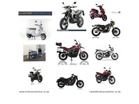 NEW AND PRE-REG BIKES AND SCOOTERS FROM £1299 -HONDA -YAMAHA-SINNIS-LEXMOTO-KIDEN-FINANCE ETC