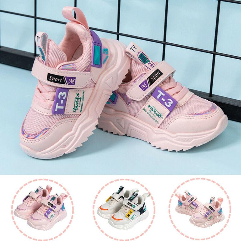 Toddler Kids Baby Girl Boy Sport Shoes Mesh Casual Fashion S