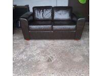 (Harveys) Lrg 2 Seater Brown Leather Sofa