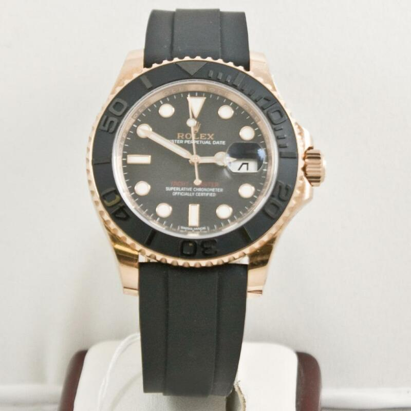 Rolex Yachtmaster 116655 Rose Gold Watch With Rolex Box & Booklets 2015 Model