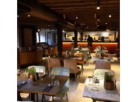 Floor staff needed for immediate start at beautiful new restaurant in canary wharf