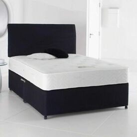 🔵💖SUPER SALE🔵💖DOUBLE AND KING SIZE DIVAN BED BASE WITH OPTIONAL MATTRESS & HEADBOARD