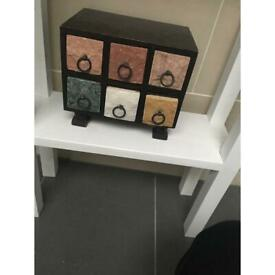 Chest drawers mini storage box display unit