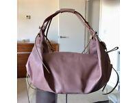 Radley large mauve / pale purple all leather shoulder handbag