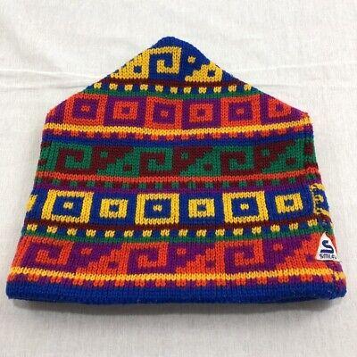 c3daaec7ff4de Smiley Hats Vintage Unisex Winter Beanie 100% Wool Multi-Color Adult Ski  Hat USA