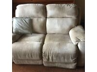 Reclining 2 seater sofa (2 available, can be bought together or separately) *NEEDS TO GO ASAP*