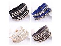 Diamonte chokers that also double up as wrap bracelets