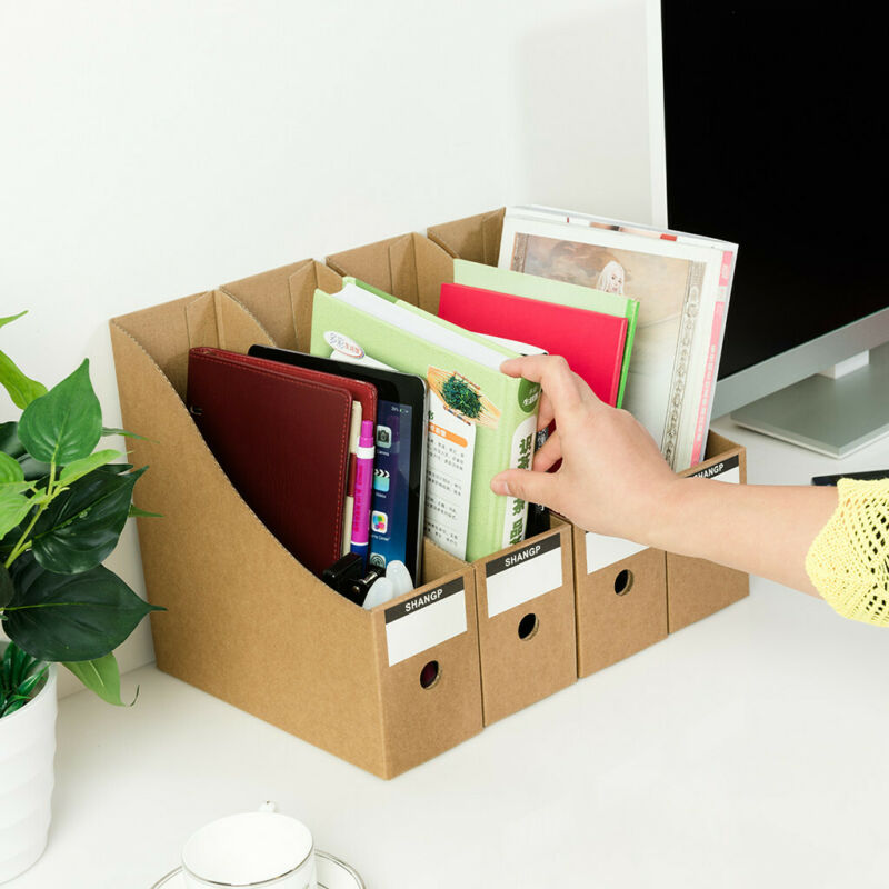 Portable File Box Storage Boxes Organizer Cardboard Document