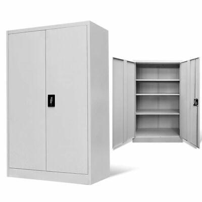 Vidaxl Office Cabinet 35.4x15.7x55.1 Steel Gray Room Indoor Storage Box