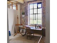 bright and affordable artist / work studio available in creative landmark building