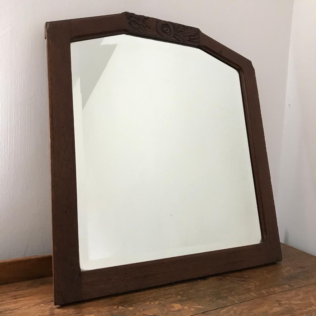 Antique Oak Framed Mirror | in Newcastle, Tyne and Wear | Gumtree