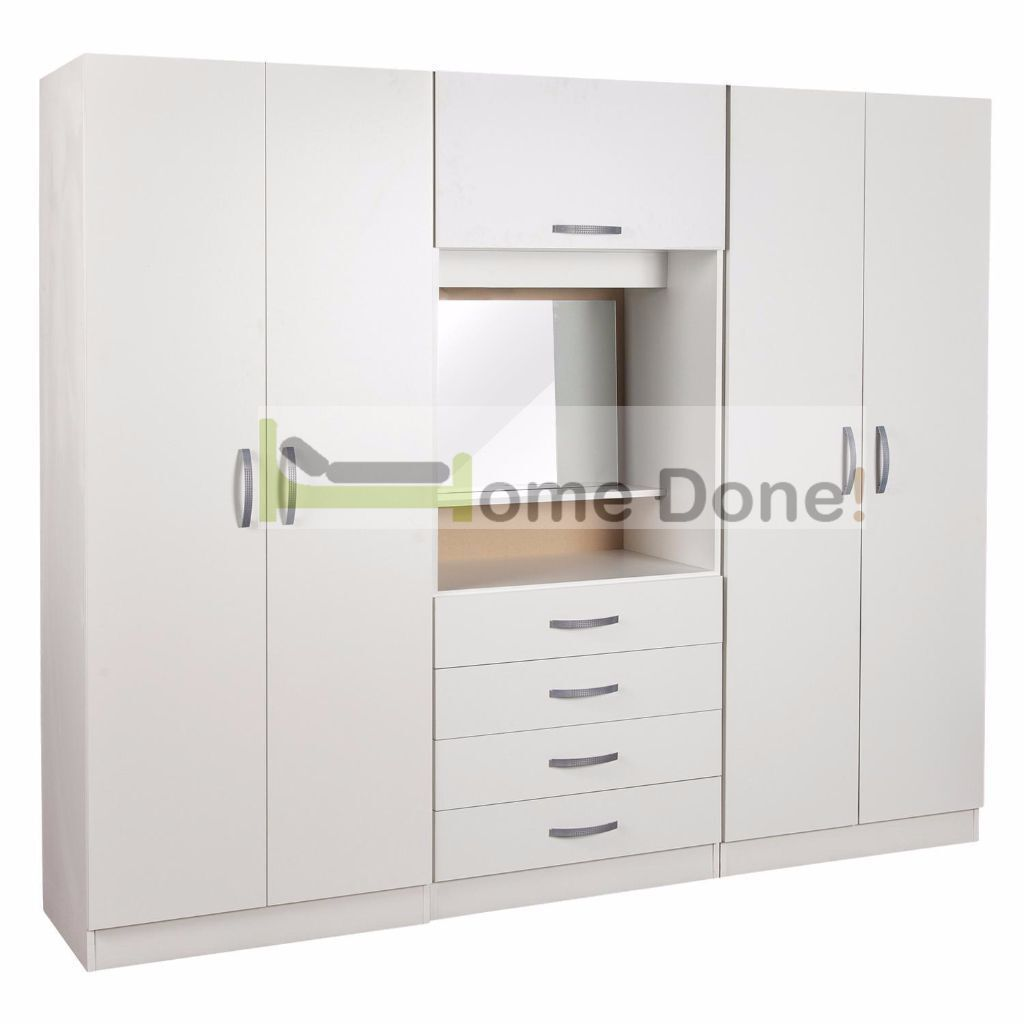 Farren 4 Door Wardrobe with Dressing Table  SAME NEXT DAY DELIVERY. 7 DAY MONEY BACK GUARANTEE      Farren 4 Door Wardrobe with