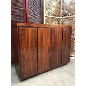 Vintage Mahogany Drinks / Serving Trolley