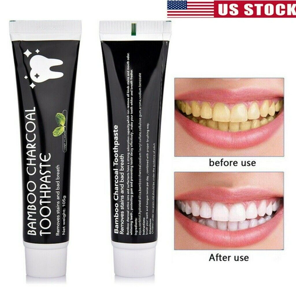 Bamboo Charcoal Teeth Whitening Toothpaste 105g Black Remove