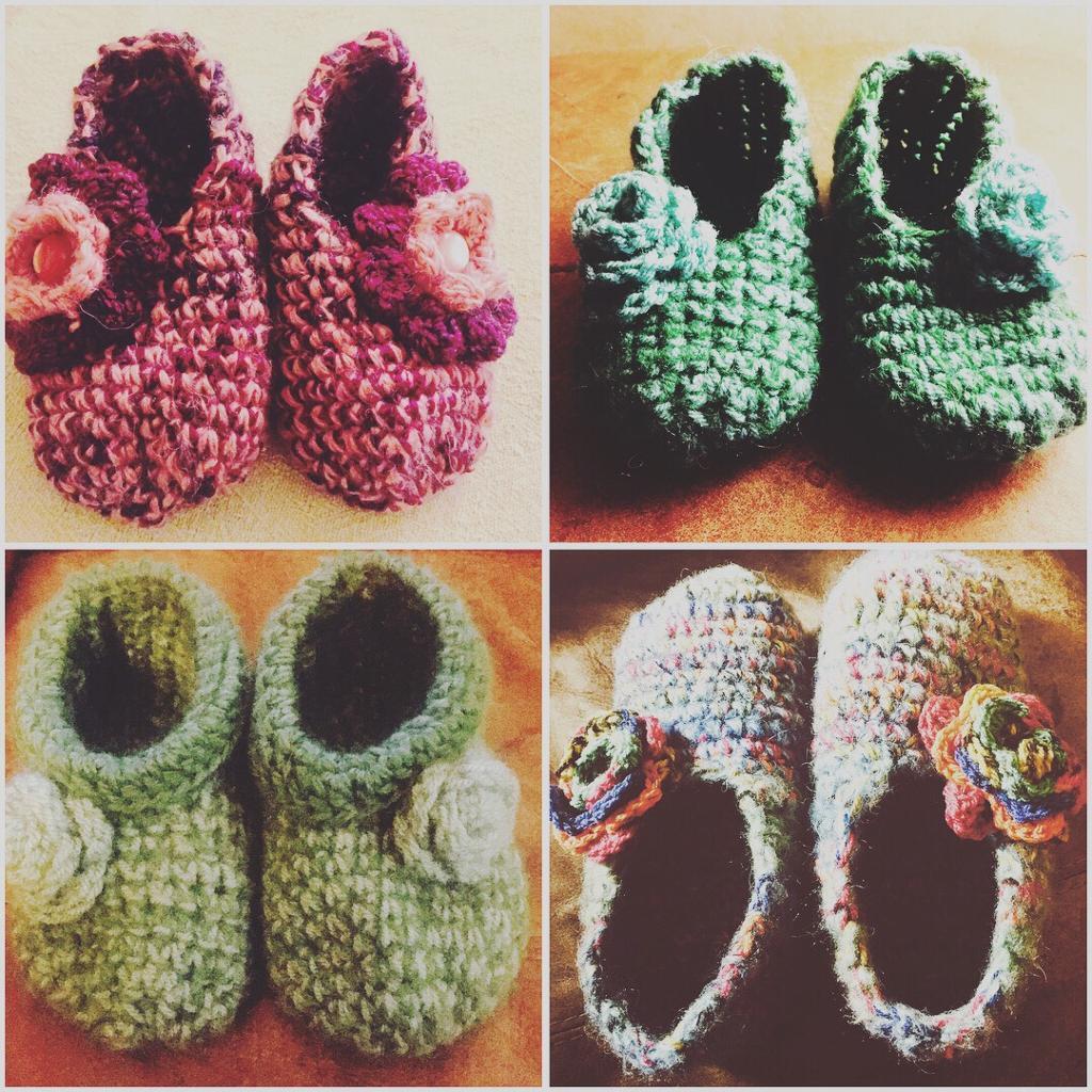 Hand Crocheted Slippers