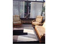 4 piece Cane conservatory furniture