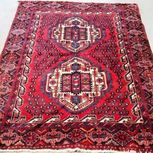 Hamedan Semi-Antique Persian Rug   Hamedan Semi-Antique Persian Rug  Colours: Red, Beige, Navy Blue, Blue & Burgundy