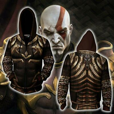 God Of War 2 Kratos Armor Jacket Hoodie 3D Animation Clothes Cosplay Coat