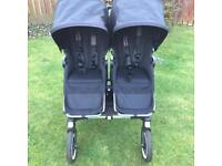 Bugaboo Donkey Twin Pram with accessories.