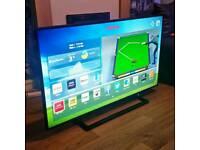 "TOSHIBA 48"" SMART 4K UHD 3D TV FREEVIEW WIFI ETC"