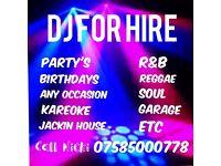 Dj for hire/mobile disco/kareoke
