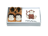 INCH BLUE Girls Boys Baby Shoe Babygro Gift SetEMBROIDERED Cheeky Monkey 0-6