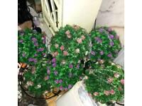 Artificial topiary balls x 6
