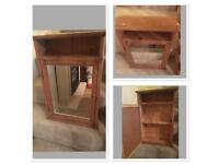 Beautiful pine bathroom cabinet