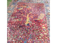 Figural carpet with birds
