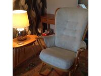 Ercol grandfather chair.