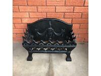 Cast Iron Fireplace Fire Basket Grate / Vintage Retro Fire Place Fire surround