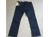 Mens Jack Jones Blue Jeans - Size 34 Waist 30 Leg - Regular Fit - Brand New With Tags