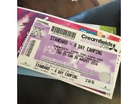Creamfields standard 4 day camping ticket