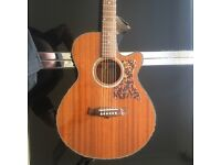 TANGLEWOOD SUNDANCE PRO TW47 E ELECTRO ACOUSTIC GUITAR SOLID MAHOGANY