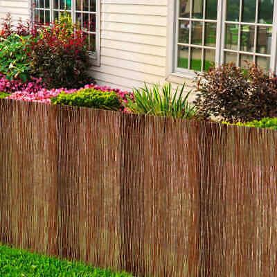 vidaXL Willow Fence 300x120cm Wicker Garden Outdoor Backyard Fencing Panels