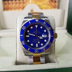 NEW ROLEX, Submariner, TwoTone with blue face & ceramic bezel. Includes Box, Bag & Paperwork. £140