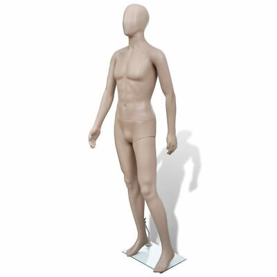 Adult Male Full Size Man Round Head Store Mannequin w/ Stand Display