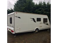 Elddis Xplore 540 2011 Caravan Fixed Bed with Kampa Rally Awning motor mover FS in Exelent Condition
