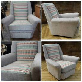 Post 1950s fully re-upholstered chair