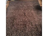 Large thick brown Rug. 35 pound. Originally from next