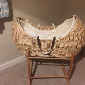 Mothercare 'The Snug' wicker Moses basket