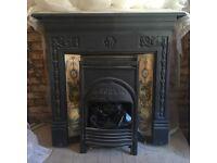 Cast iron style fireplace