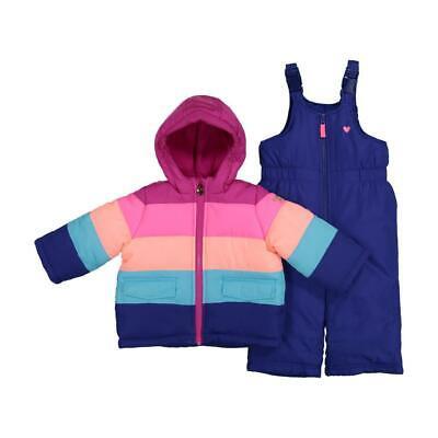 OshKosh Girl's 2-Piece Insulated Puffer Bib Snowsuit 4 5/6 6
