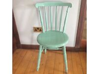 Vintage painted wooden kitchen chair