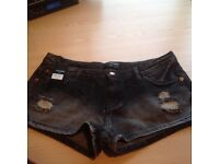 Black Demin Shorts Size 14