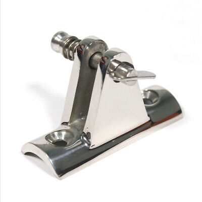 Marine Boat Concave Base Deck Hinge Polished Stainless Steel Bimini Top Fitting