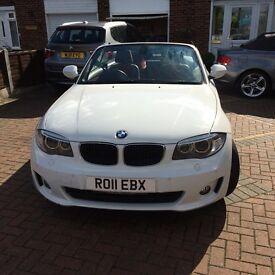 BMW 1 series convertible white 2011